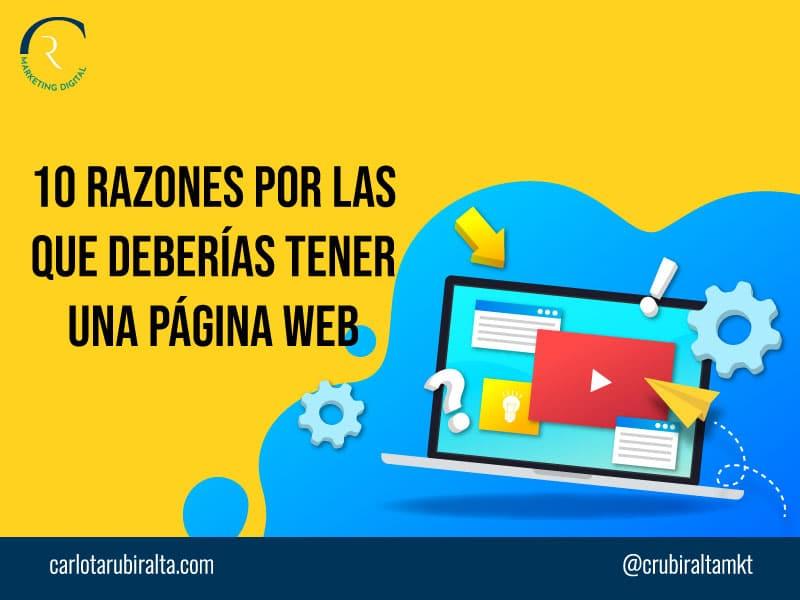 razones tener pagina web